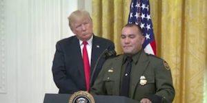 Trump and Border Guard